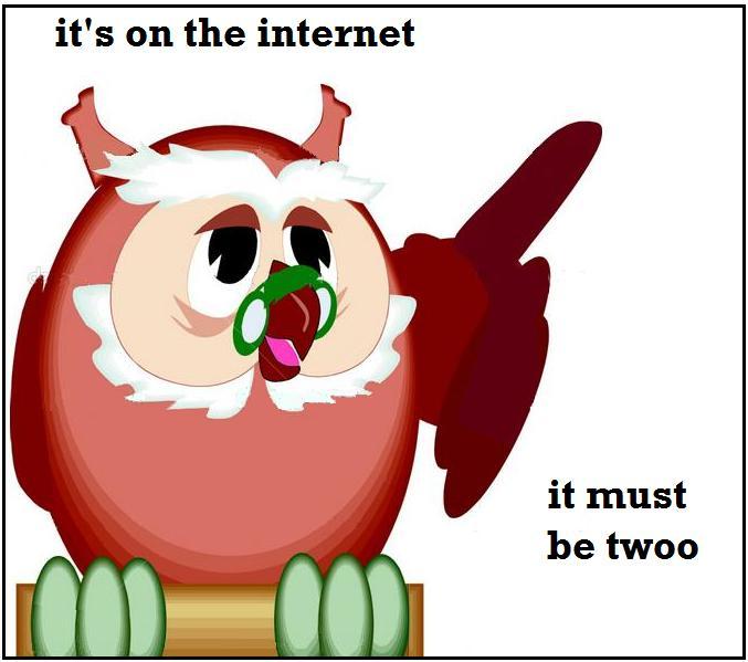 Scholarly owl says...