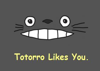 Totoro likes you
